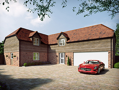 Luxury Detached House CGI Rendering