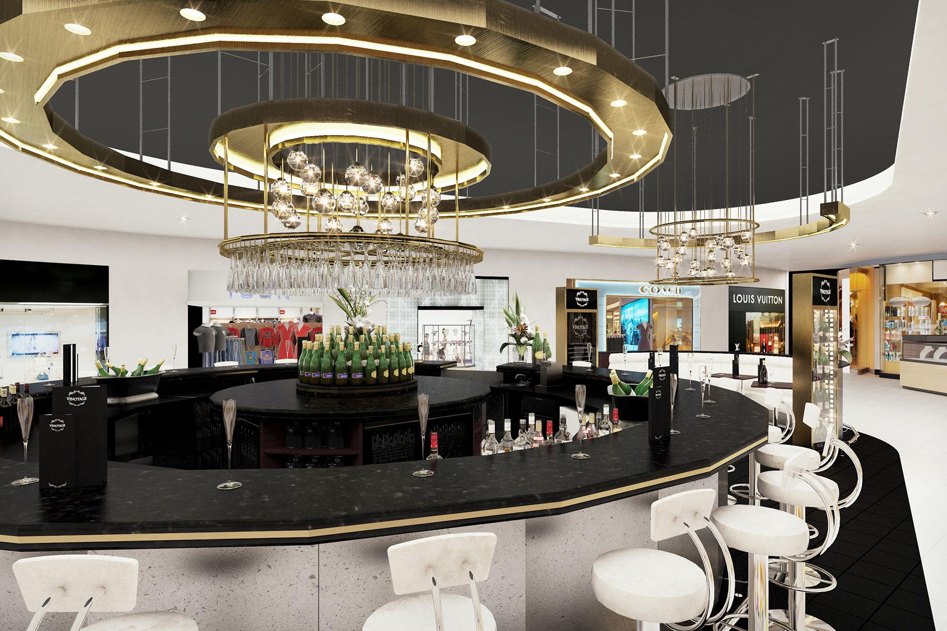 Interior design CGIs of New Bar