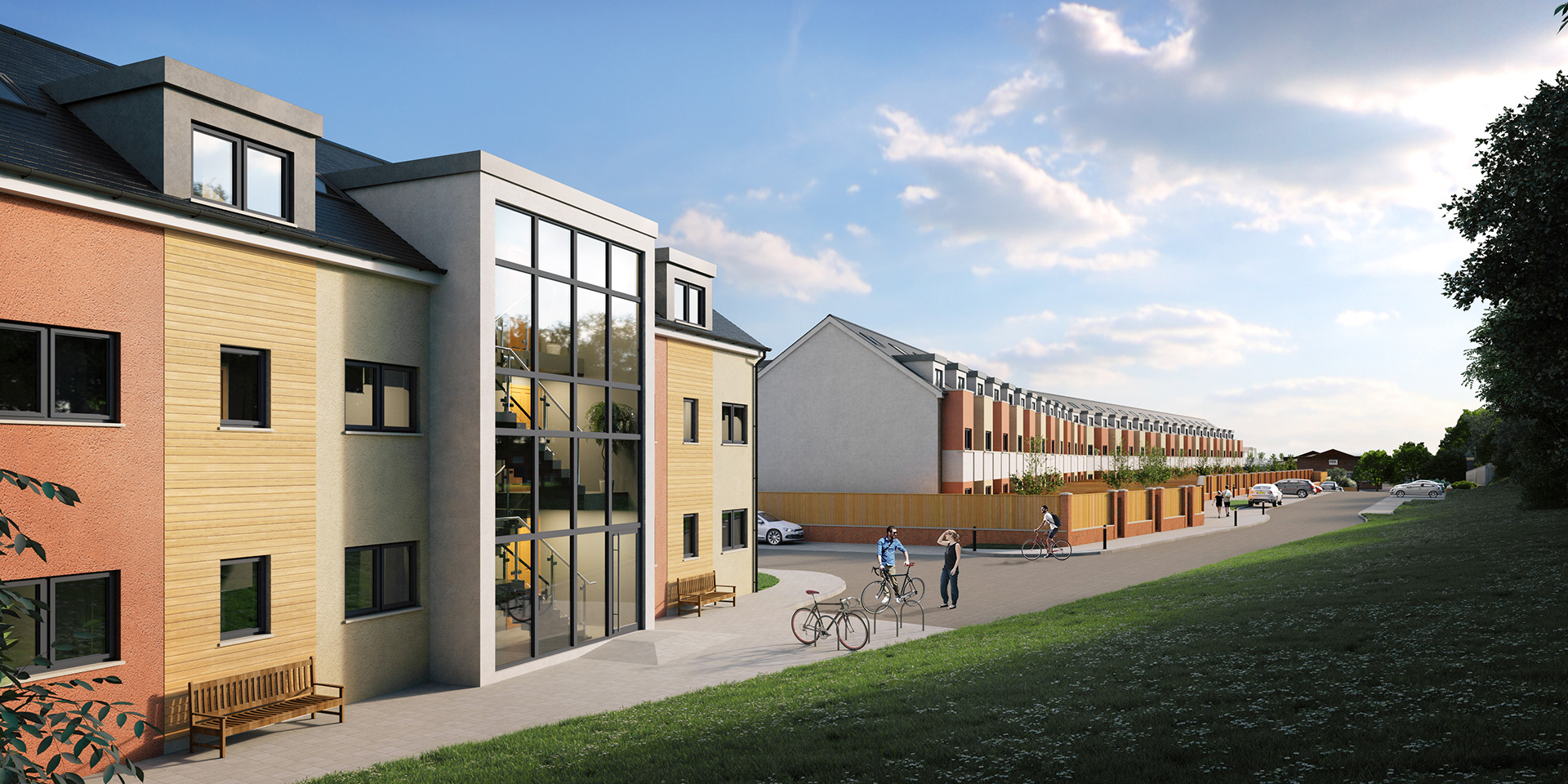 External renderings of new housing development icreate cg for New housing developments